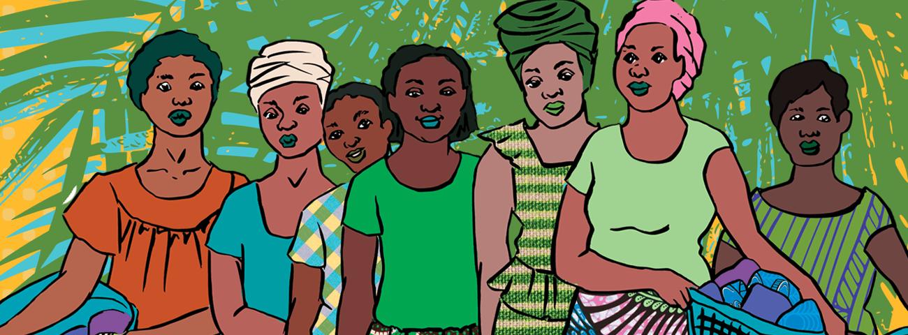 Dorcas Creates illustration for Fairtrade Fortnight 2021
