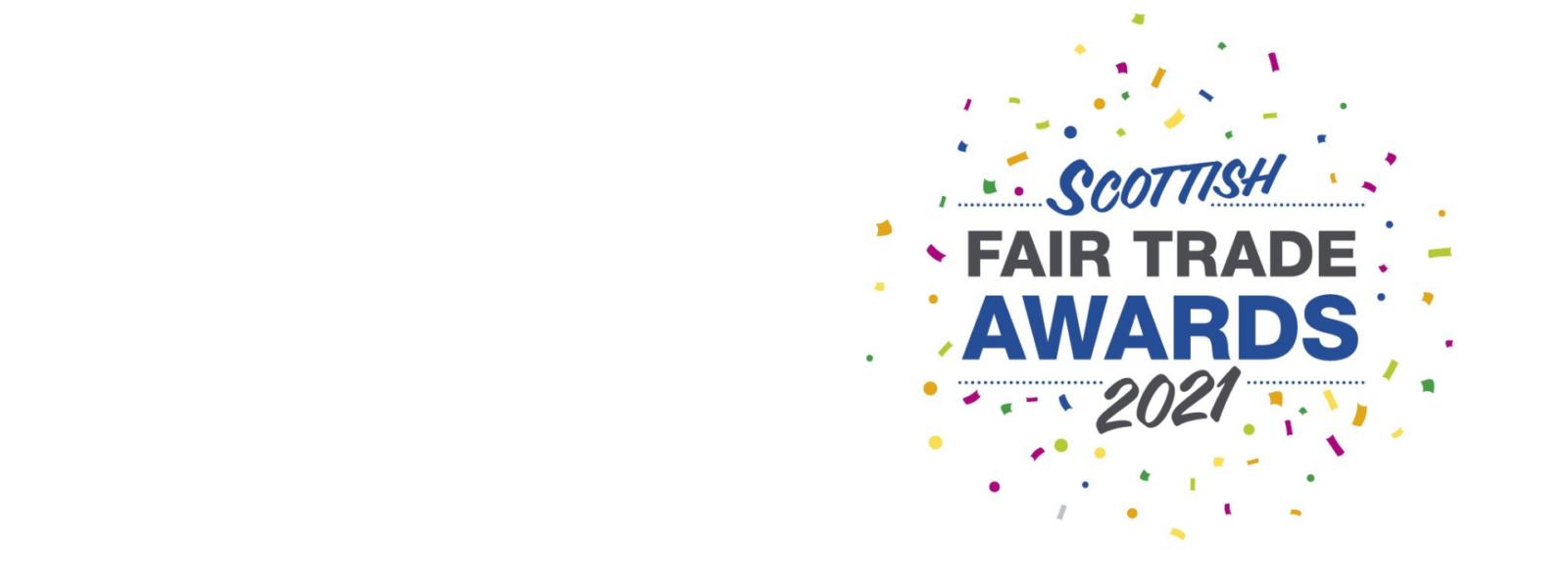 Logo with words Scottish Fair Trade Awards 2021
