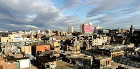 Glasgow skyline city centre buildings